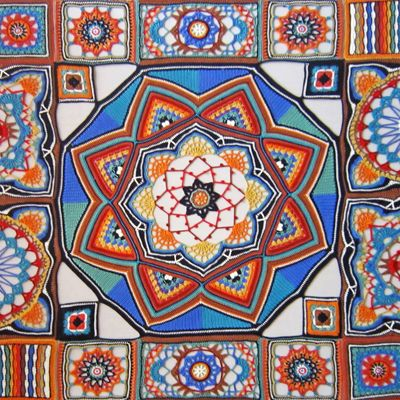 inspired by islamic and persian ceramics, carpets and architecture
