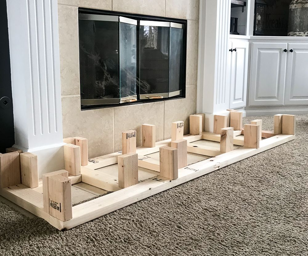 How To Build A Raised Fireplace Hearth Repurpose Life Build A Fireplace Fireplace Hearth Fireplace Surrounds