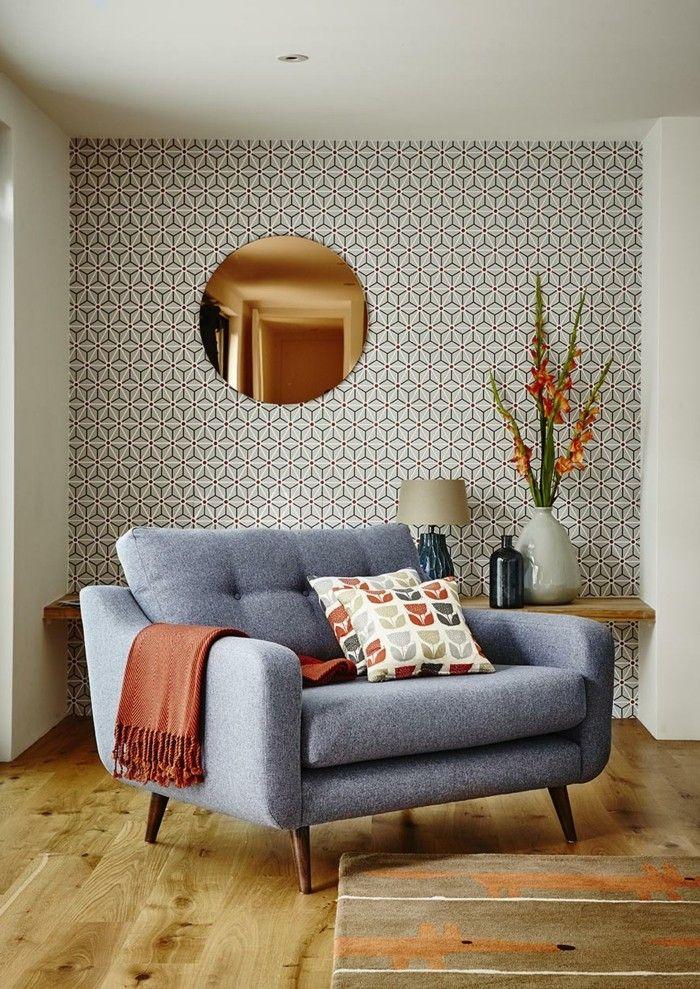 Tapeten Ideen Geometrische Muster Als Akzent Im Wohnbereich