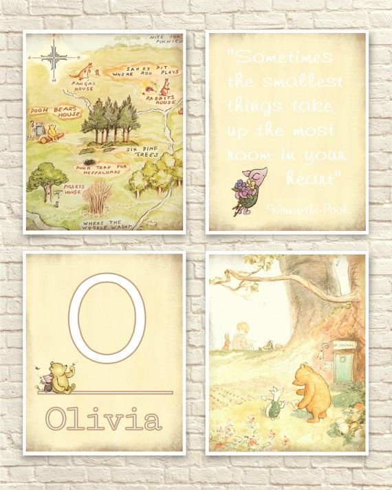 Classic Winnie The Pooh, Pooh Wall Art, Classic Pooh Set, 100 Acre ...