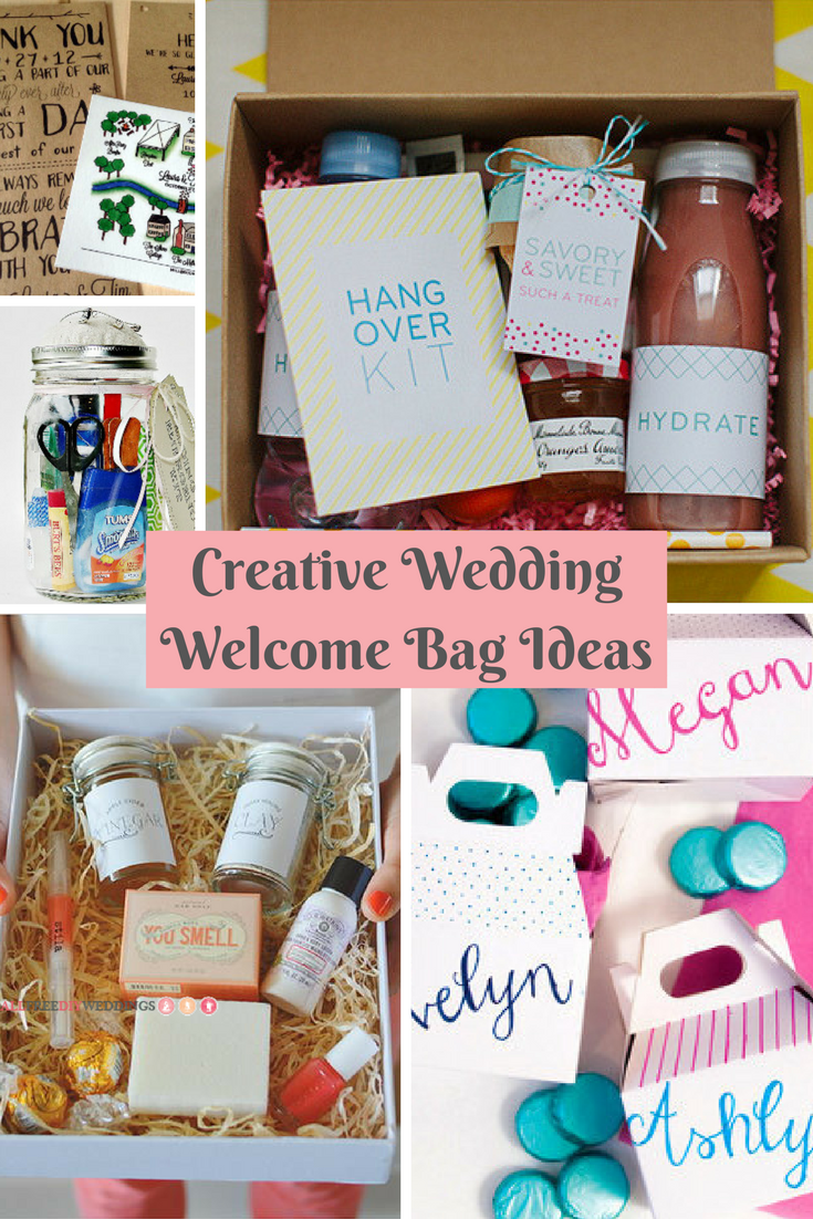 Creative Wedding Welcome Bag Ideas | Creative, DIY wedding and Favors