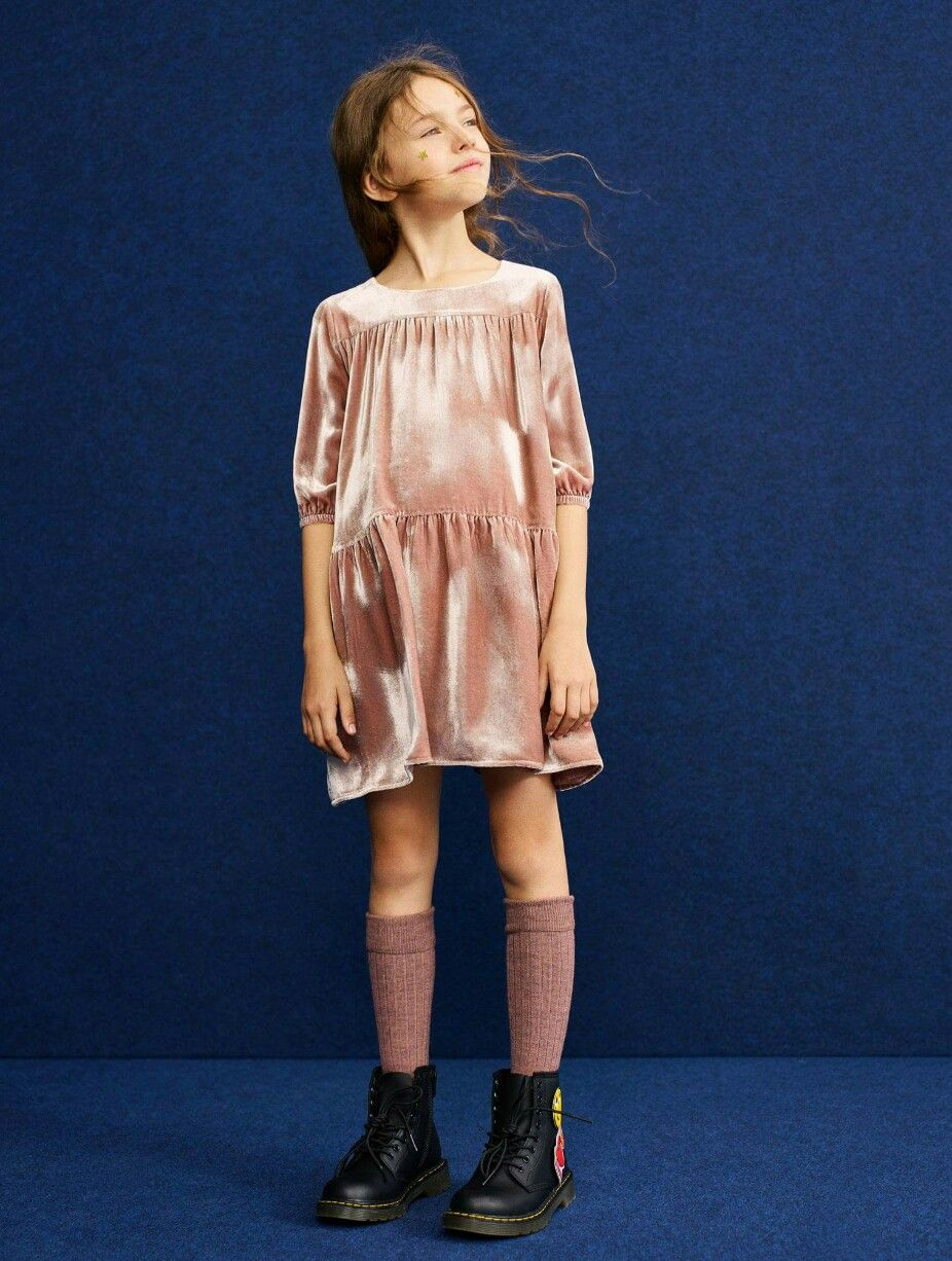3e902f5d2da85 Mango kids velvet dress and drMartens | Lula | Kids outfits, Kids ...