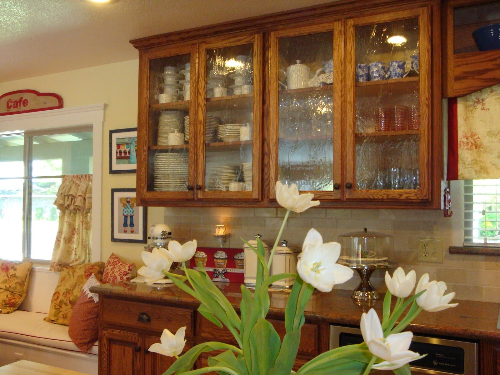 Home Is Where The Heart Is Seeded Glass In The Kitchen Glass Kitchen Cabinet Doors Seeded Glass Cabinets Glass Cabinet Doors