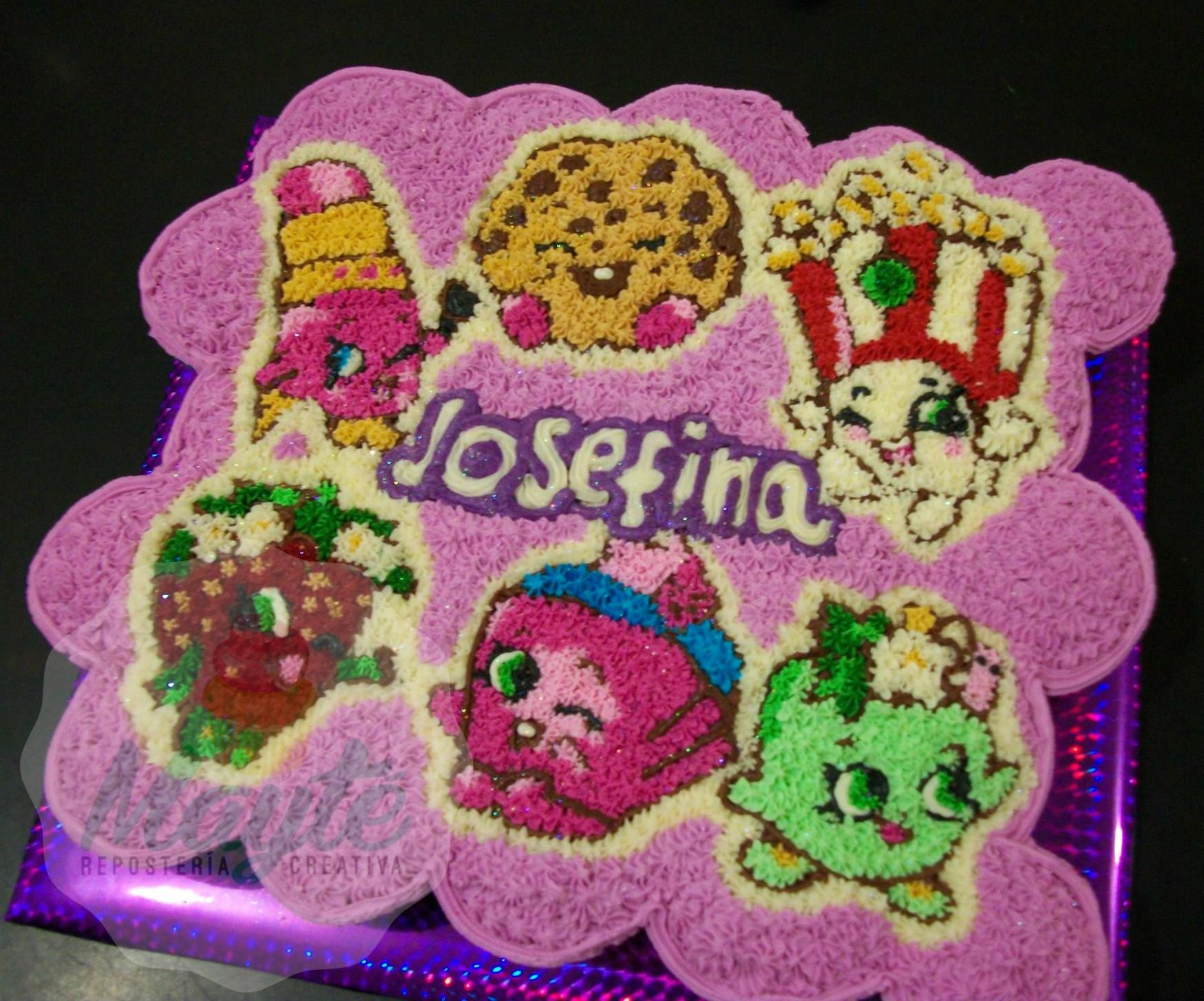 Shopkins! cupcake cake | Shopkins Cakes Cereza | Pinterest