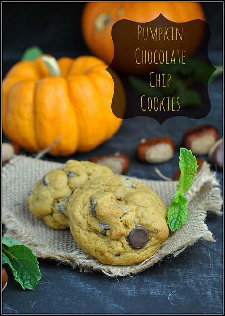 Soft & Chewy Pumpkin Chocolate Chip Cookies