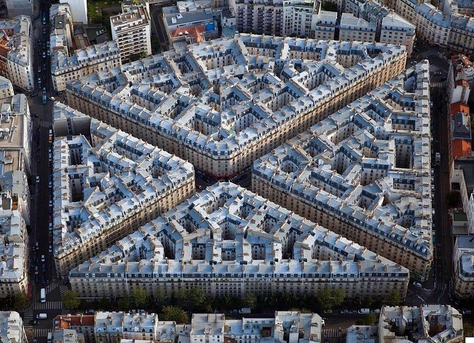 The compact density of these Parisian apartment