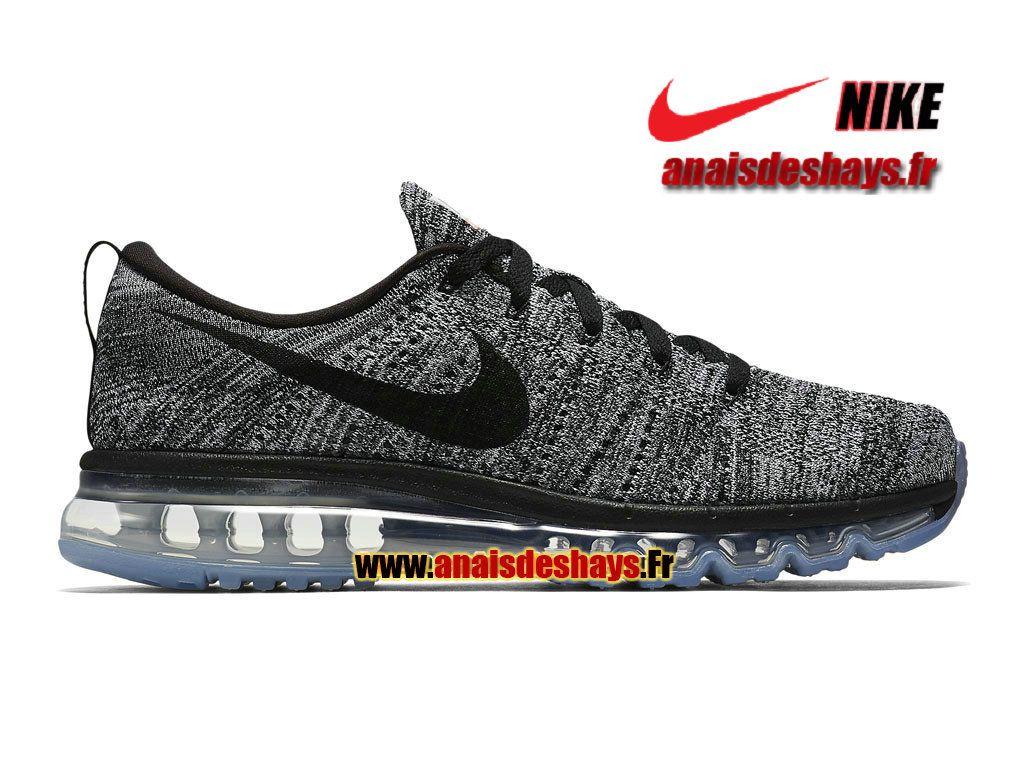 cheaper a75c7 2cc09 Boutique Officiel Nike Flyknit Air Max Homme Blanc Noir 620469-105