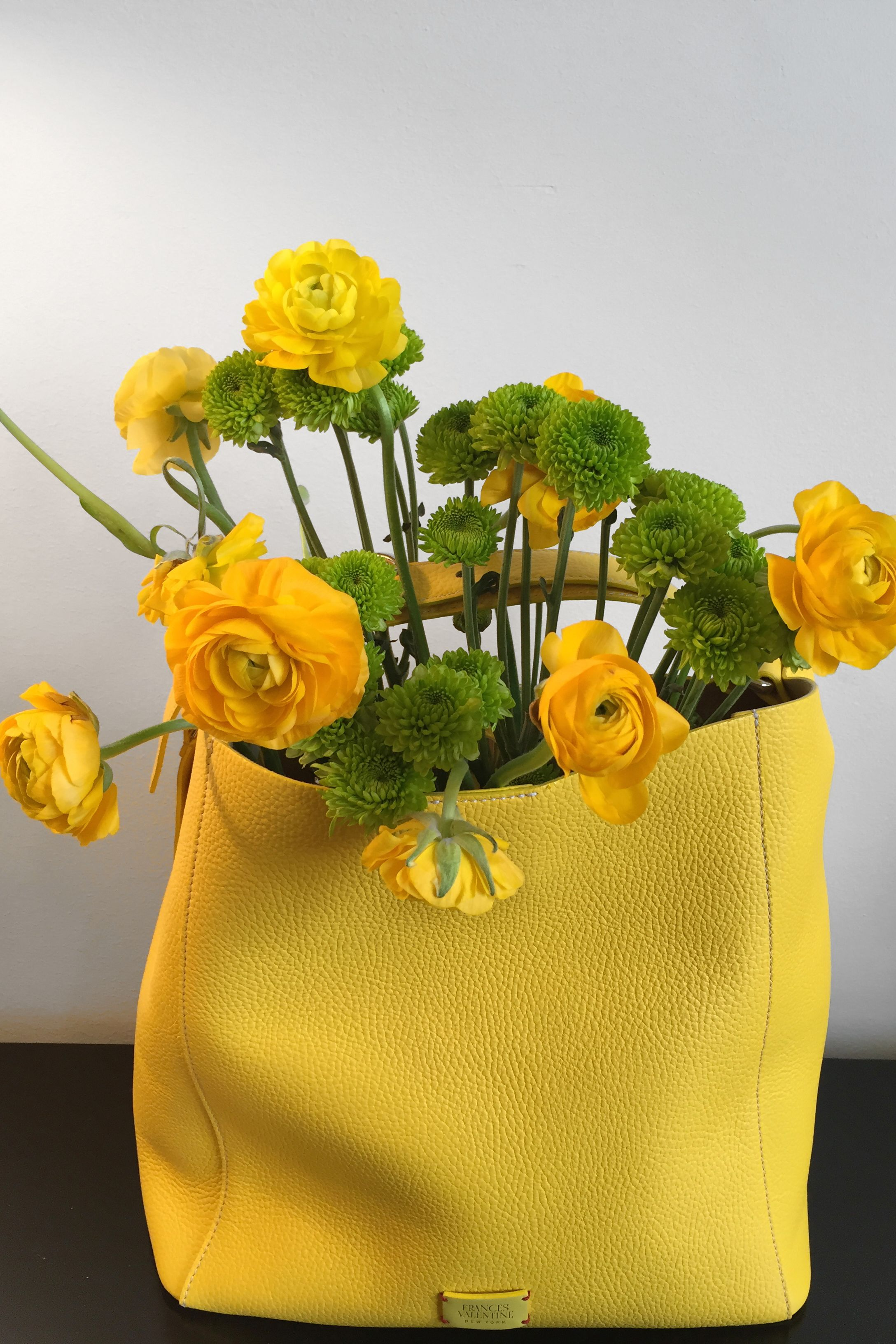 93b3b852ae Frances Valentine handbag | Darcy Miller Designs #nyfw #headoverheels  #andyspade #katespade #yellow #flowers #handbag #fashion