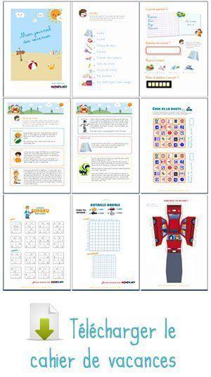 Le super cahier vacances pour enfants à imprimer ...