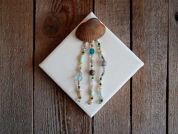 Pin by alev avci on do it yourself pinterest coastal colors beaded seashell jellyfish on canvas crafts by amanda solutioingenieria Gallery