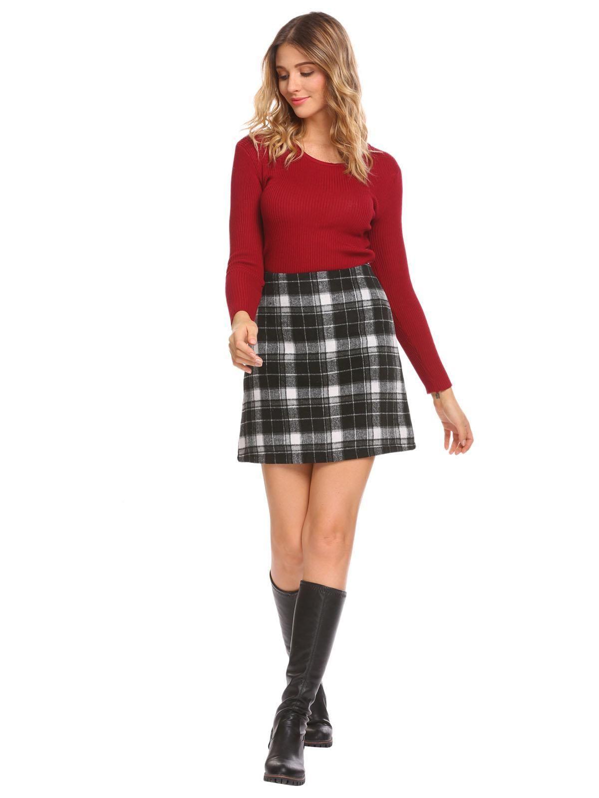 23d712c5d4 Black white A Skirt Waist. Retro Style Red Short Sleeve Collared Button Up  Blouse – Unique Vintage
