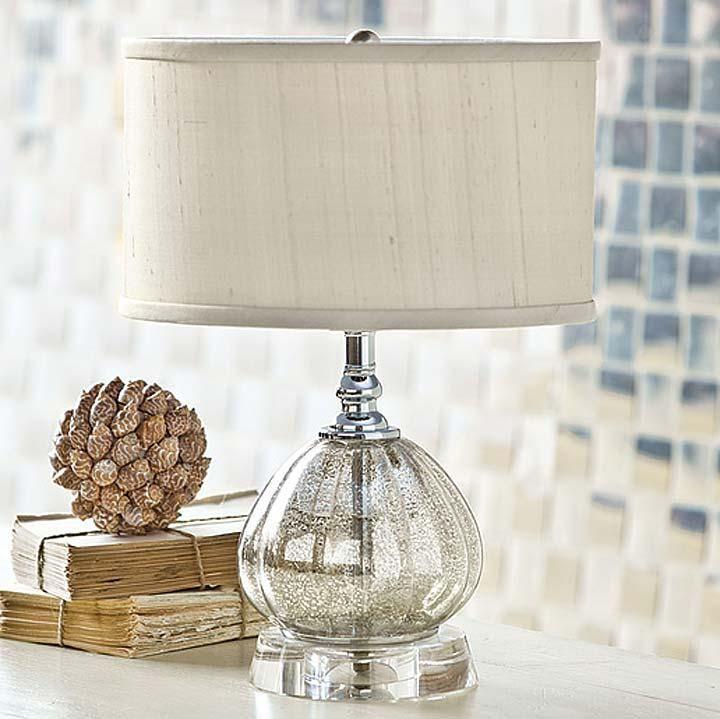 Regina Andrew Mercury Glass Clove Table Lamp Regina 405 638 Candelabra Inc Mercury Glass Table Lamp Mini Table Lamps Mercury Glass Lamp