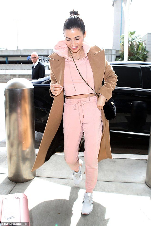 Image result for jenna dewan pink sweatsuit""