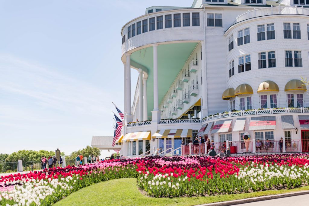 Lilac Festival At The Grand Hotel On Mackinac Island In Michigan Grand Hotel Mackinac Island Mackinac Island Mackinac Island Michigan