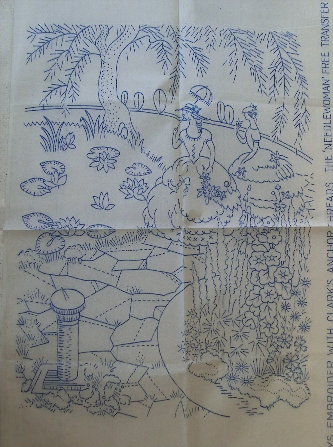 1940s crinoline lady, flowers etc | Embroidery Southern Belles ...