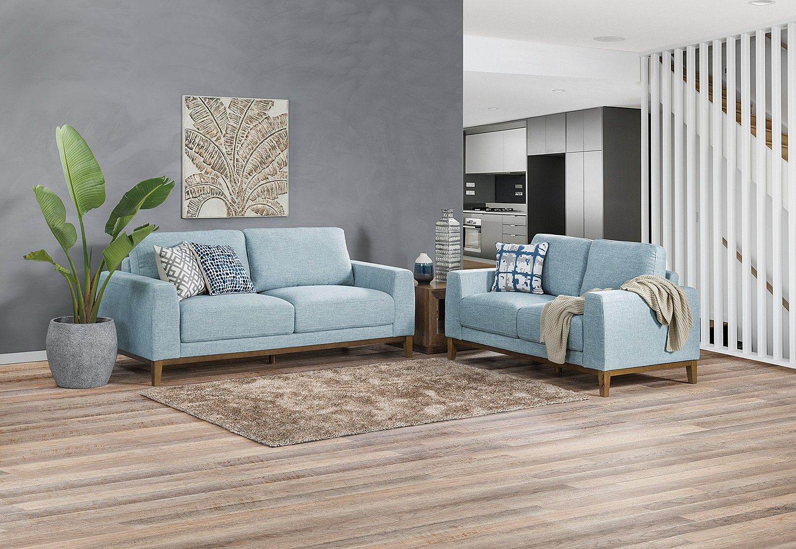 Monika Fabric Sofa Pair | Amart Furniture