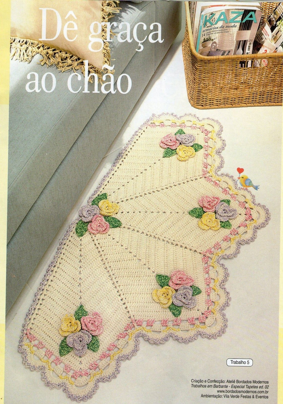 Manu & Manias: Tapete Meia Lua | crochet | Pinterest | Teppich ...