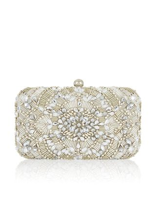 Go all-out with embellishment courtesy of our Charlotte hard case clutch bag.  Adorned with gold-tone beads and dazzling crystal gems d8dd49ea3