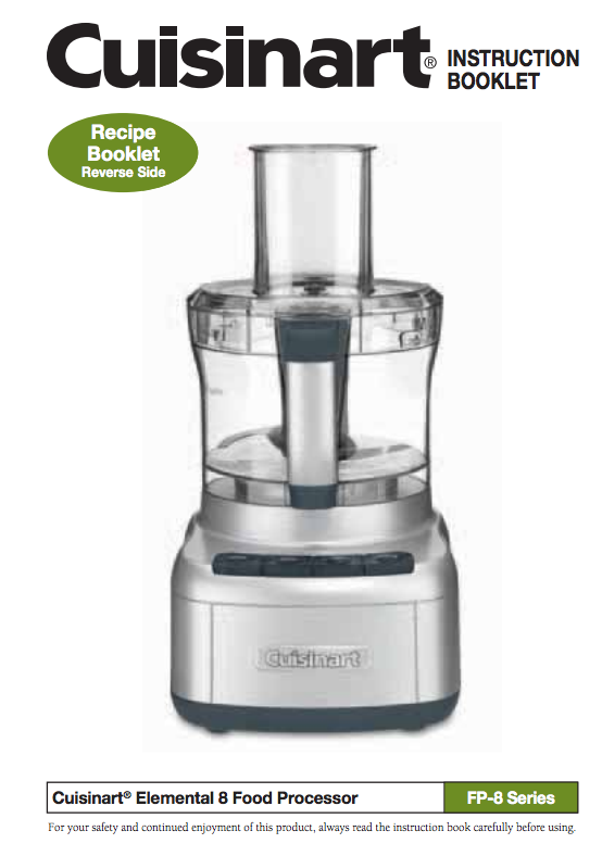Elemental 8 cup food processor fp 8 product manual food elemental 8 cup food processor fp 8 product manual forumfinder Image collections