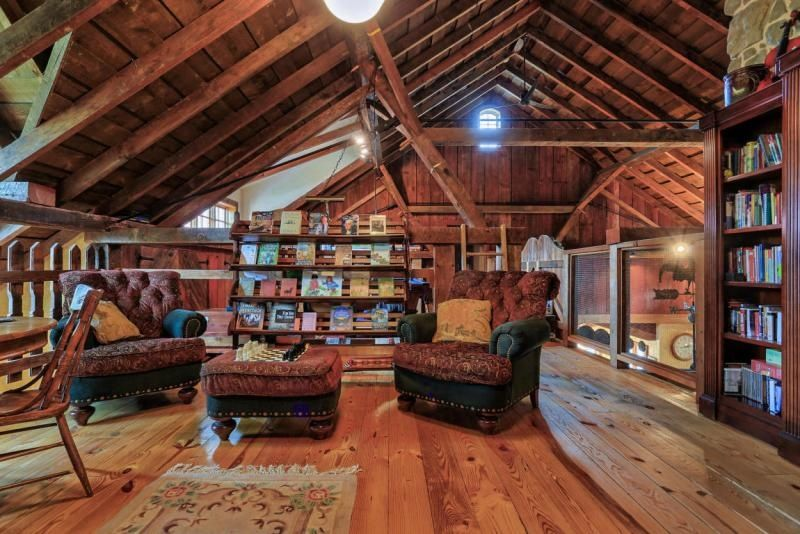 Think You Don T Have Space For A Library Consider Transforming Your Attic Into Your Very Own Literary Getaway Attic Renovation Attic Remodel Attic Apartment