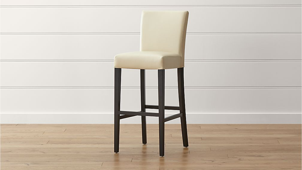 Lowe Ivory Leather Bar Stool In 2020 Bar Stools Leather Bar