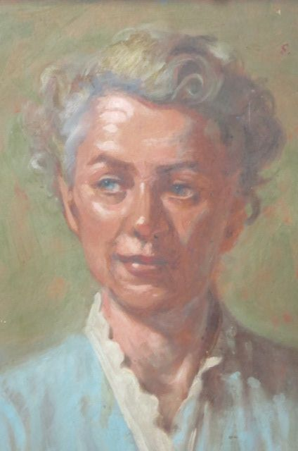 My Fav Vintage Oil Portrait Of A Gray Haired Transitioning From Blonde Painting Circa 1940 50s Sold This One Older Beauty Silver Grey Hair Silver White Hair