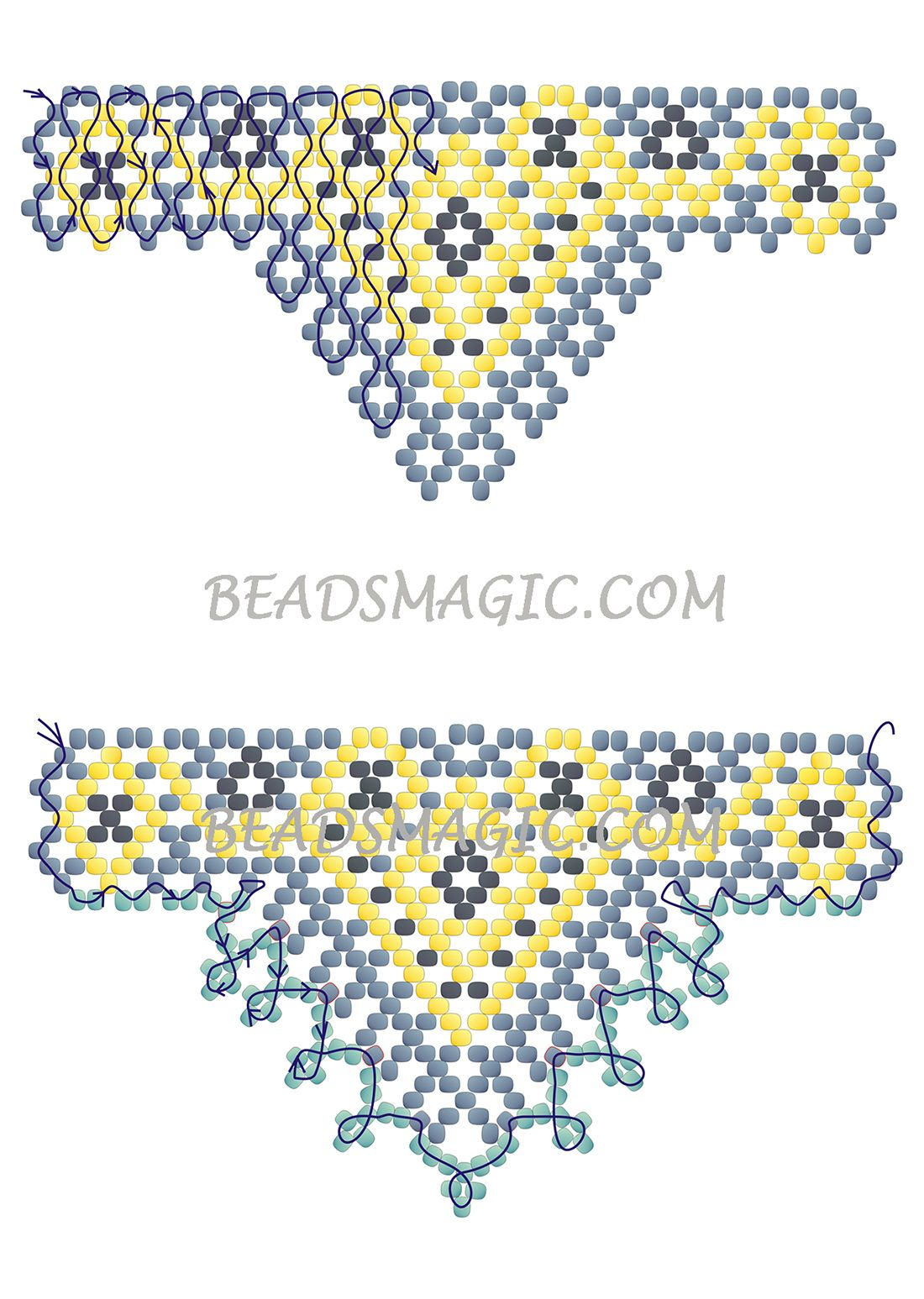 Beads instructions - Free Pattern For Beaded Necklace Sultan Beads Magic