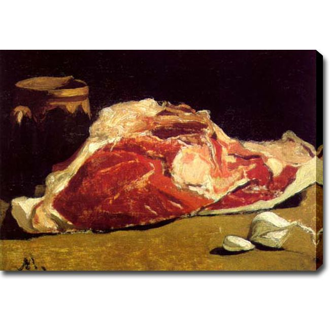 USA 'Still Life with Meat, Garlic and Vase' Oil on Art