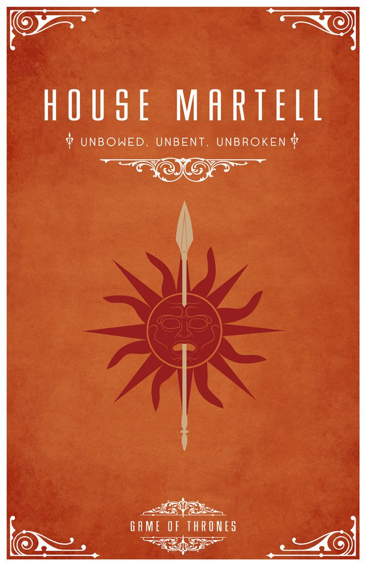 House Martell Oberyn 3 A Song Of Ice And Fire