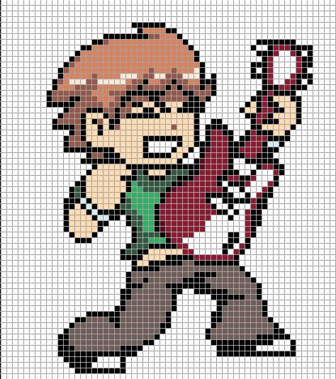 Scott Pilgrim Pixel Art Templates Minecraft Pixel Art
