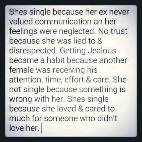 Because she Loved & cared soo much for someone who didn't love her.