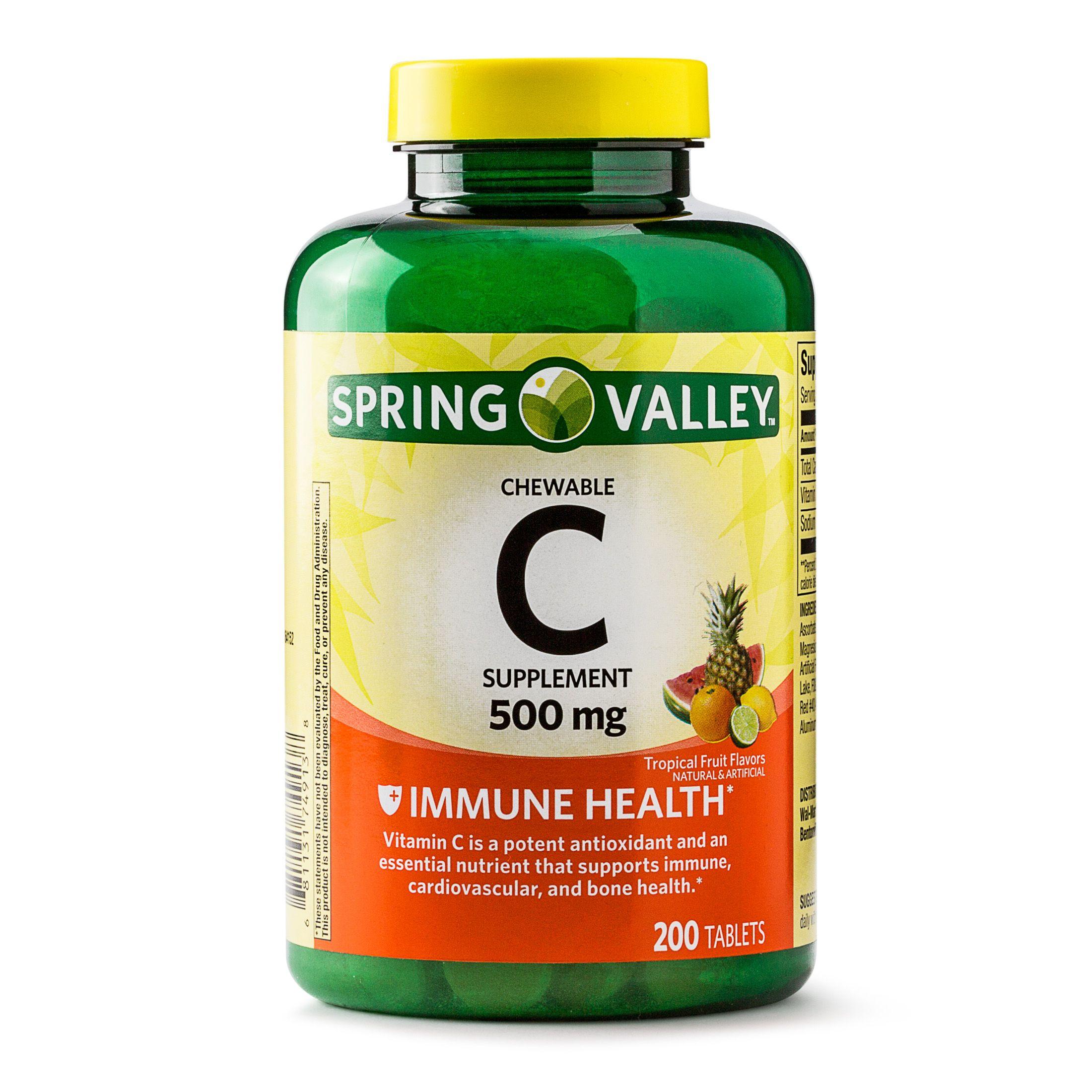 Health Vitamin c tablets, Vitamins, Spring valley
