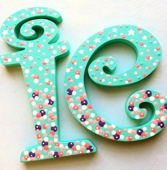 Nursery Letters, Wooden Letters, Playroom Letters, Wedding Letters