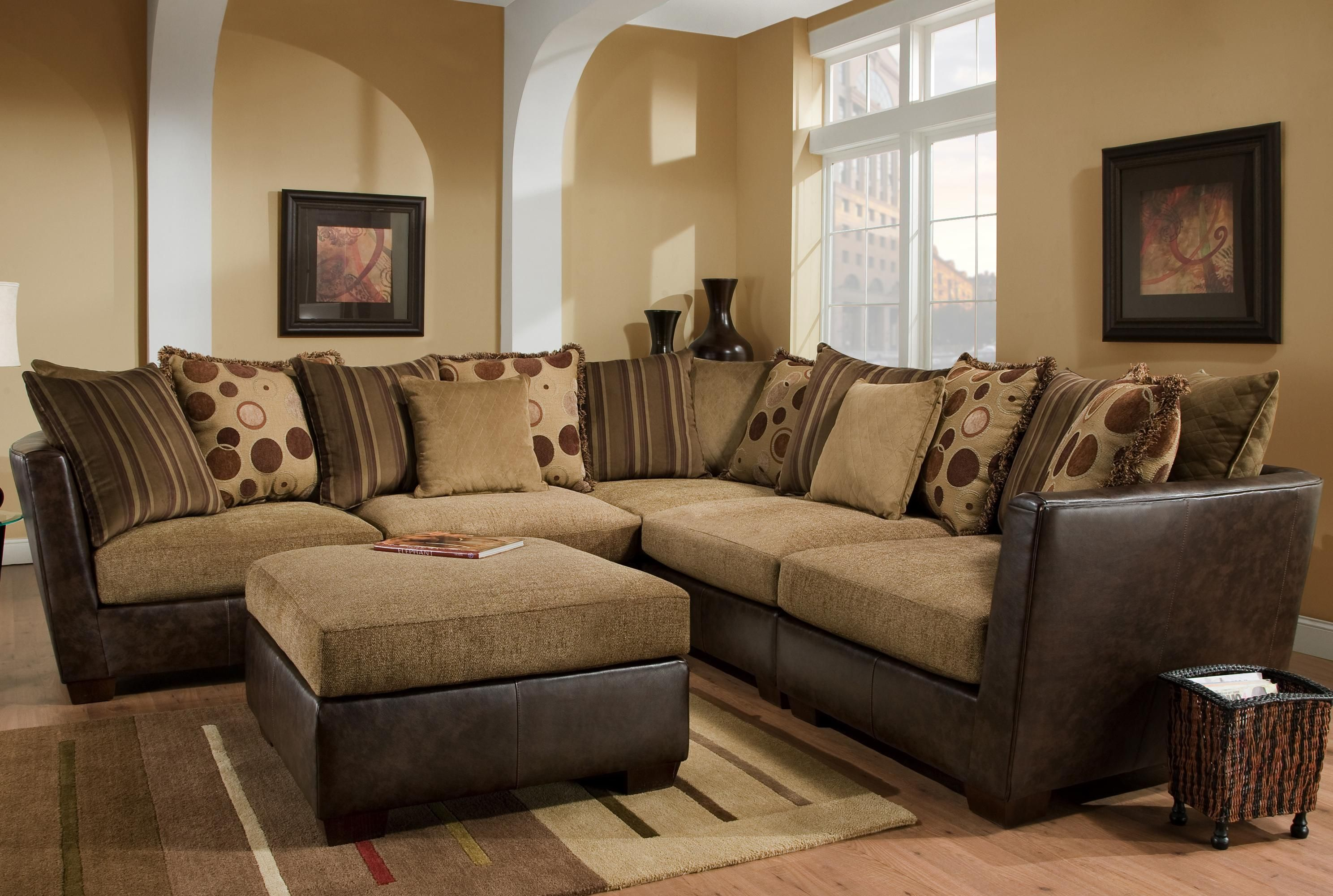 Ashley Furniture HomeStore Victory Chocolate Sectional