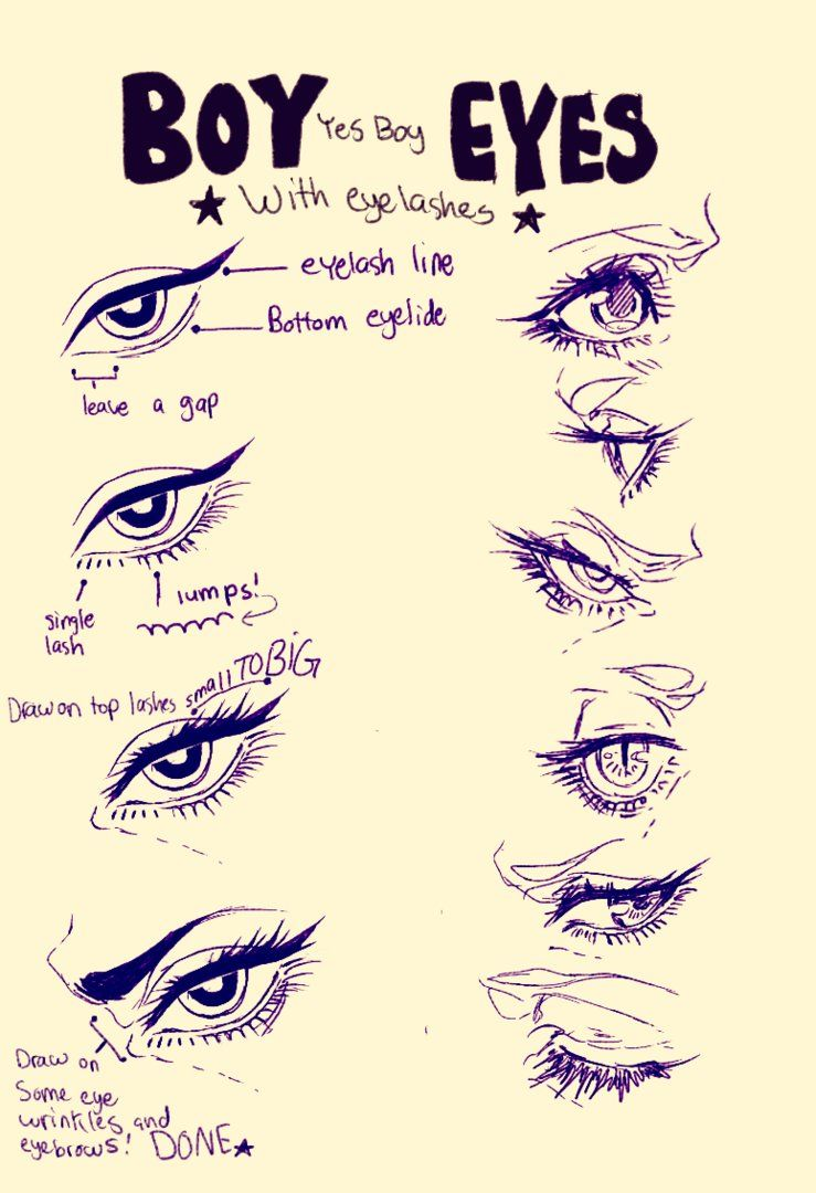 Find This Pin And More On Eyes This Is How I Draw Boy
