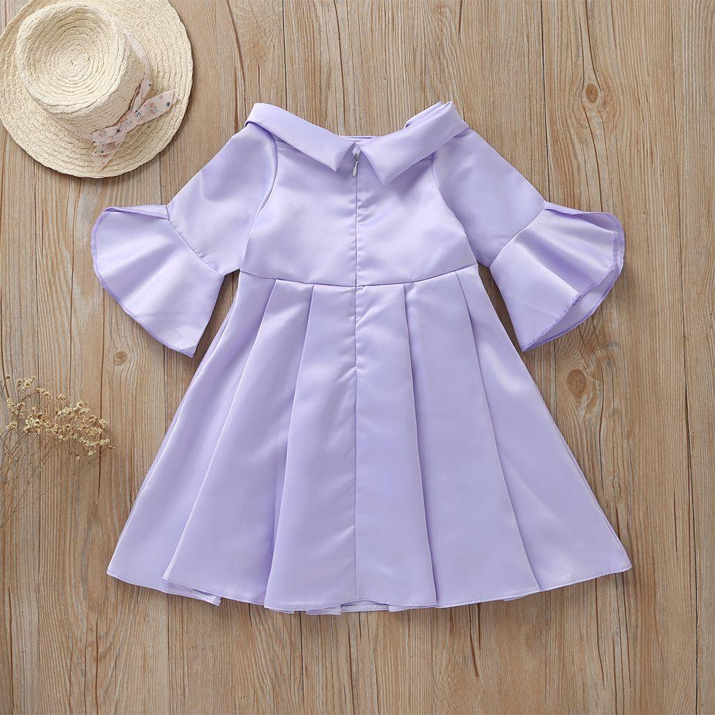 Flutter Sleeve Evening Dress