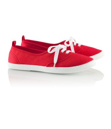 red sneakers H
