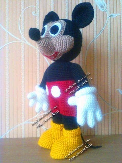 punto de juguete Mickey   amigurumis   Pinterest