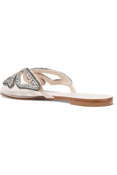 675878b15ff Sophia Webster - Madame Butterfly Embellished Perspex Slides - Silver