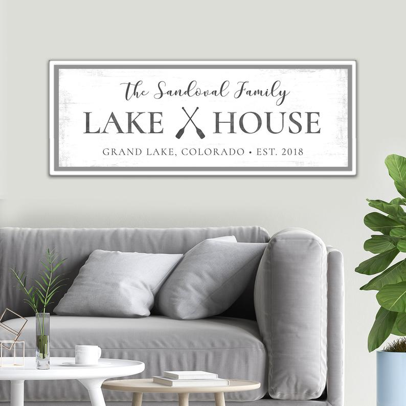 Lake House Sign Personalized Etsy In 2020 Lake House Signs Custom Lake House Signs Home Signs