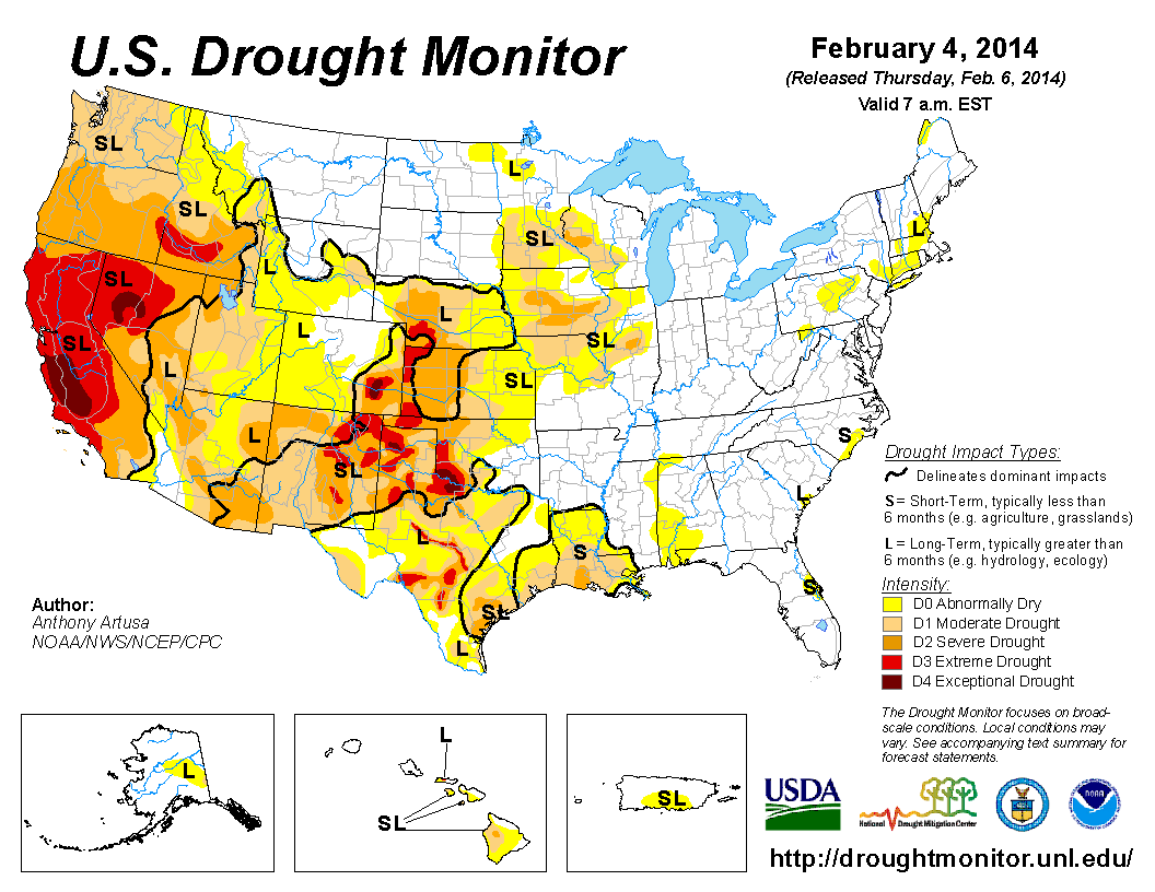Disaster And Drought Information USDA Maps Ancient And - Drought map in us