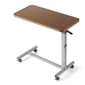 Over Bed Table Kim Hannan I Think I May Try Something Like This It Tilts Back And Forth And Adjusts Up Or Dow Overbed Table Bed Table Bedside Tables For Sale
