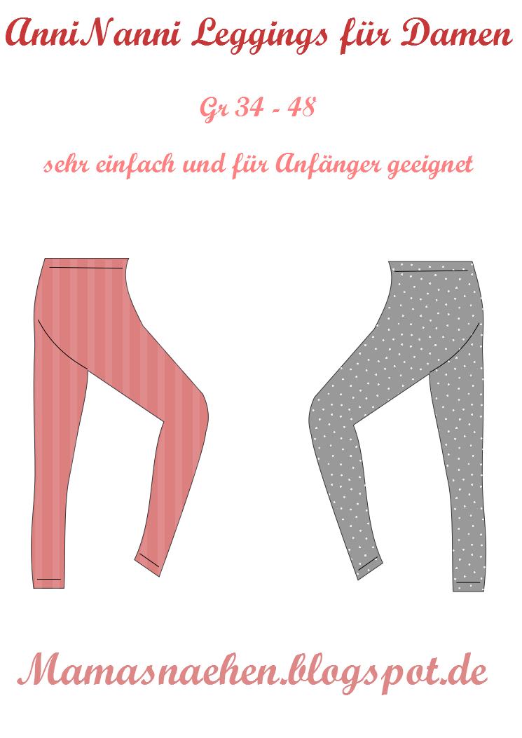 Mama Nähblog: Freebook Leggings, kostenloses Schnittmuster Leggings ...