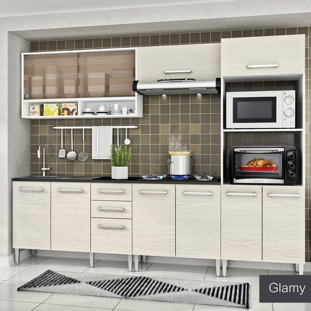 Gostou Desta Cozinha Glamy 5 Pe As Elis Orquidea Branco Tirol C