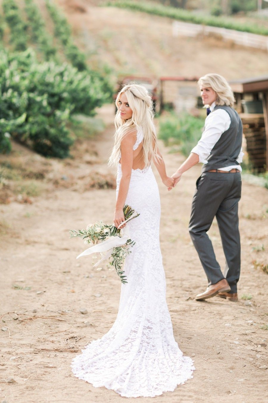 Stunning lavender and blush bohemian wedding with glamour