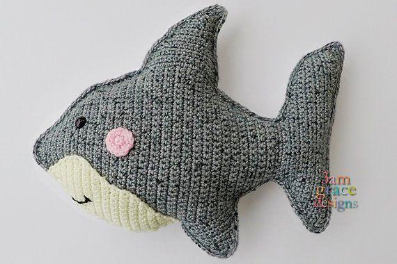Shark Kawaii Cuddler™ Crochet Pattern  Shark Kawaii Cuddler™ Crochet Pattern