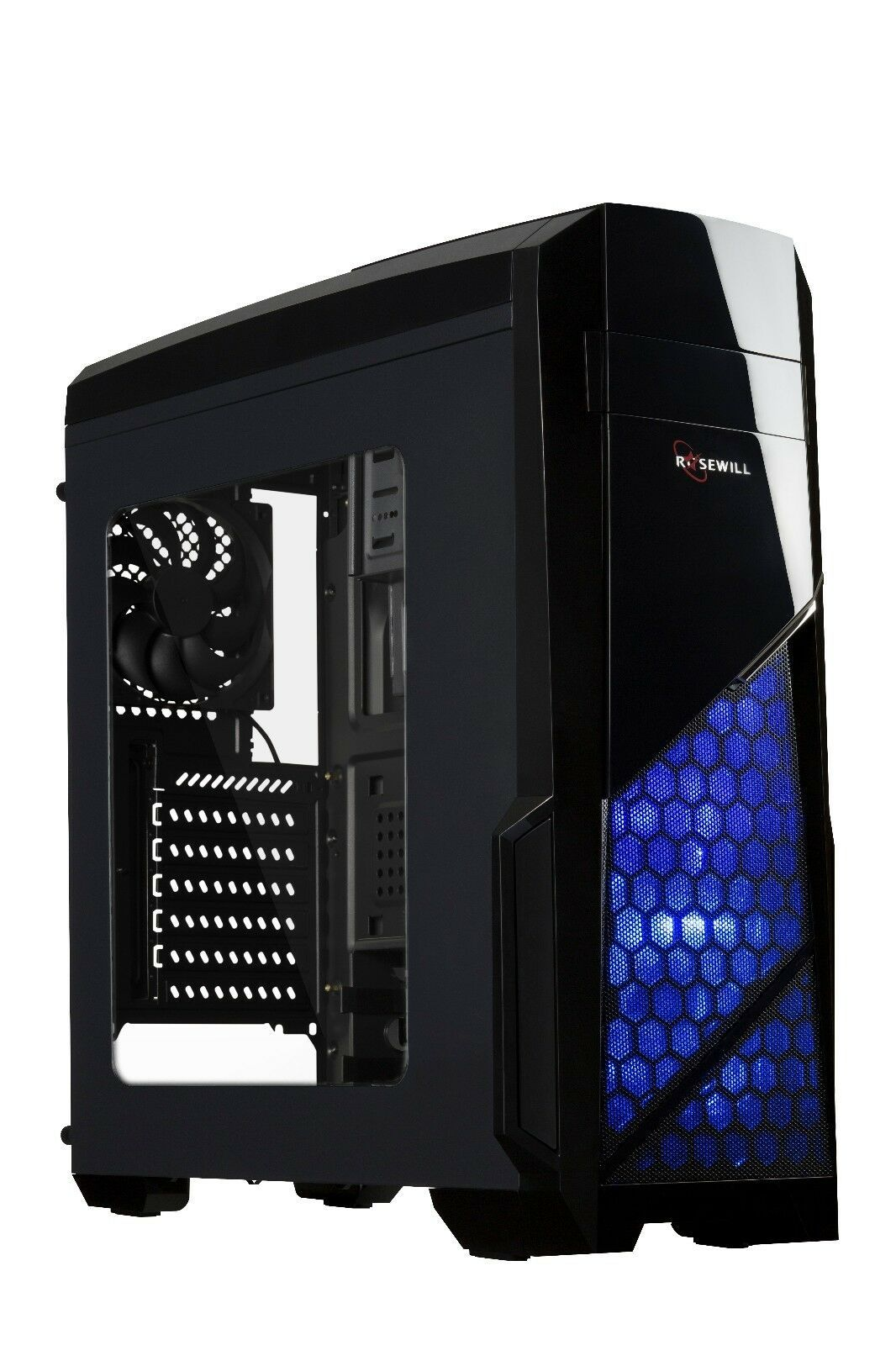 Rosewill Gaming Computer PC Case, ATX Mid Tower, 3 Fans