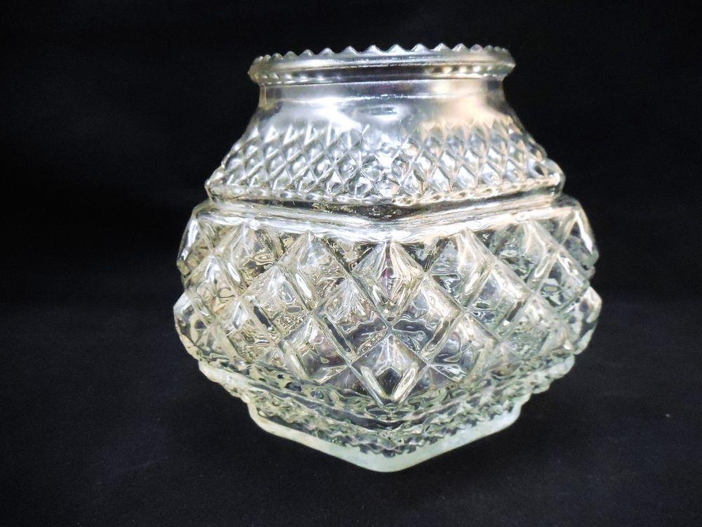 Vintage Anchor Hocking Wexford Votive Candle Holder, Ball