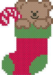 noël - christmas - botte - nounours - point de croix - cross stitch - Blog : http://broderiemimie44.canalblog.com/