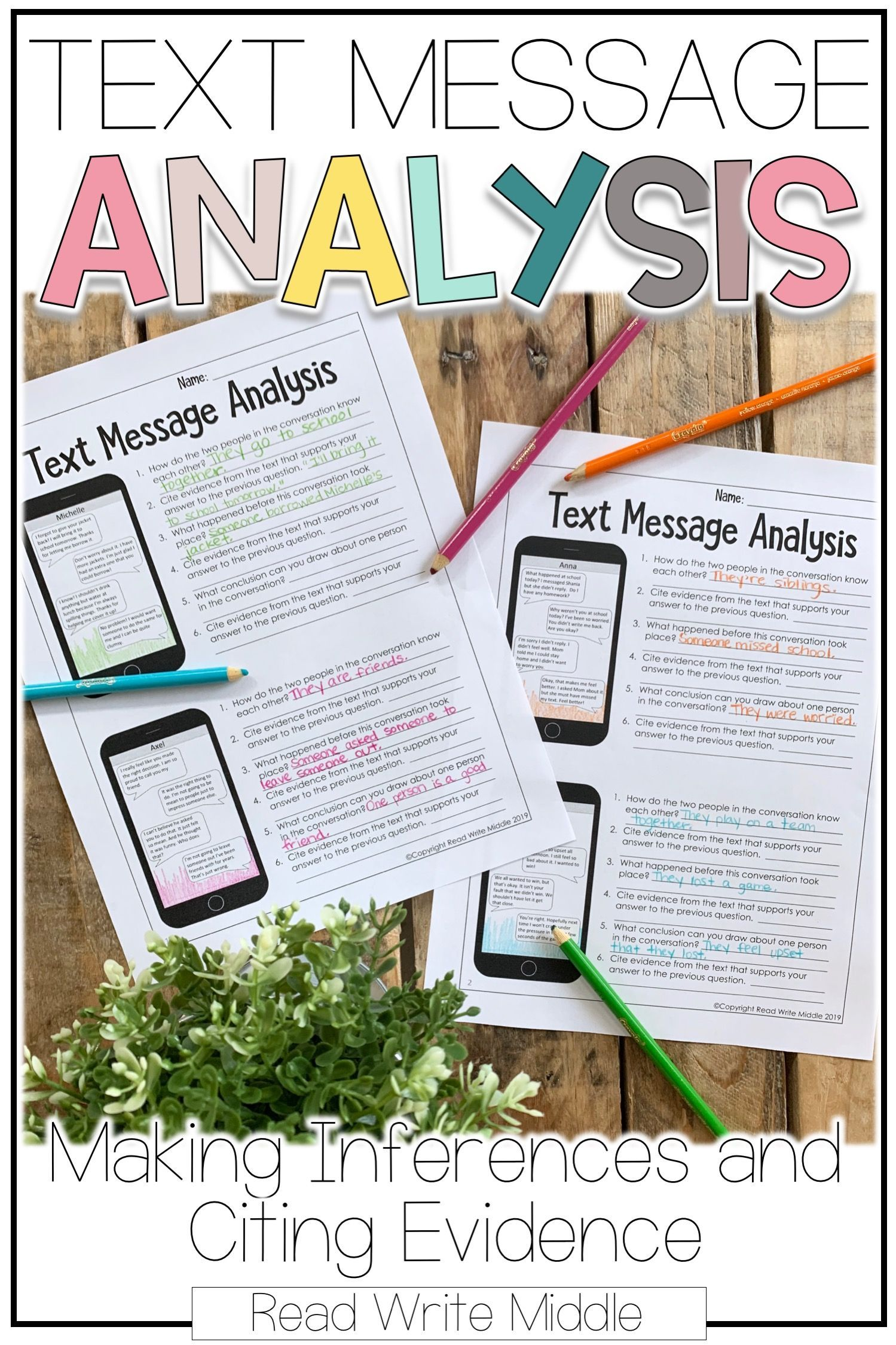 Text Messageysis Bundle Making Inferences Amp Citing